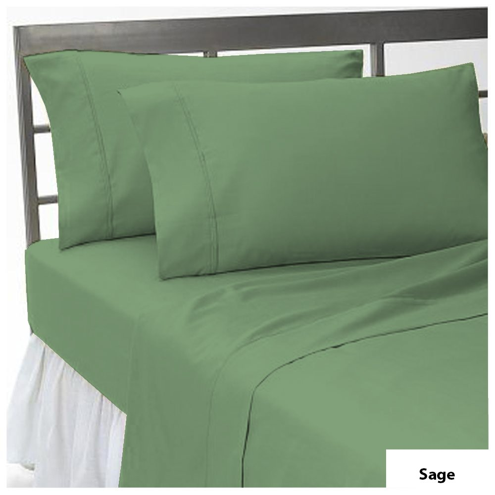 Lussona Super soft and Luxury Elegant 1000 -Thread-count 100% Organic cotton 1 PCs Flat sheet Solid. Stain & Fade Resistant Top Quality Available in Many Colors and Sizes. King , Sage