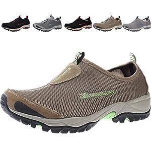 Mens Water Shoes Quick Drying Lightweight Beach Pool Walking Shoe (12 D(M) US= EURO45= 11.42in, Kakhi)