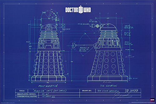 Amazon doctor who dalek blue prints poster 36 x 24in dr who amazon doctor who dalek blue prints poster 36 x 24in dr who posters prints malvernweather Image collections