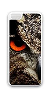 Hard Plastic and Aluminum Back iphone 5c case - Surprised owl