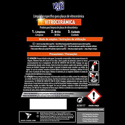 Vitroclen Pistola - Limpiador específico vitrocerámica, tamaño 450 ml