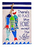 Evergreen No Place Like The Lake Burlap House Flag, 28 x 44 inches