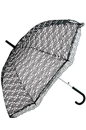 Forum Novelties - Goth Victorian Vampire Umbrella Black Lace Parasol