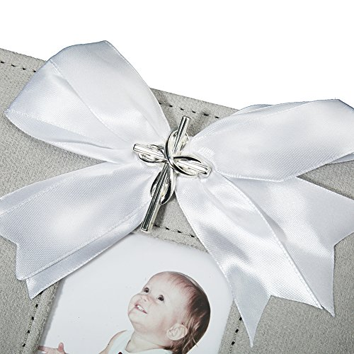 Modali Baby Christening Baby & Children Elegant Photo Album with Ribbon and Beautiful Silver Cross 80 Pictures 4x6'' by Modali Baby (Image #2)