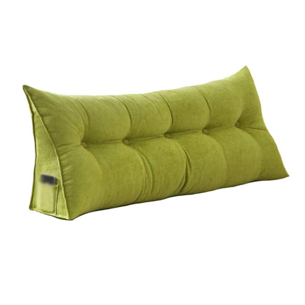 ZHWNGXO Headboard pad Filling Triangle Wedge Belt Cushion Bed Back Positioning Pillow Reading Pillow Office Lumbar Pillow Removable (Color : Green, Size : 80×20×50cm) by ZHWNGXOlian