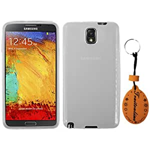 (TRAIT) White TPU Silicone Rubber Protector Skin Clear Case for Samsung Galaxy note 3 N9000 Cases and covers