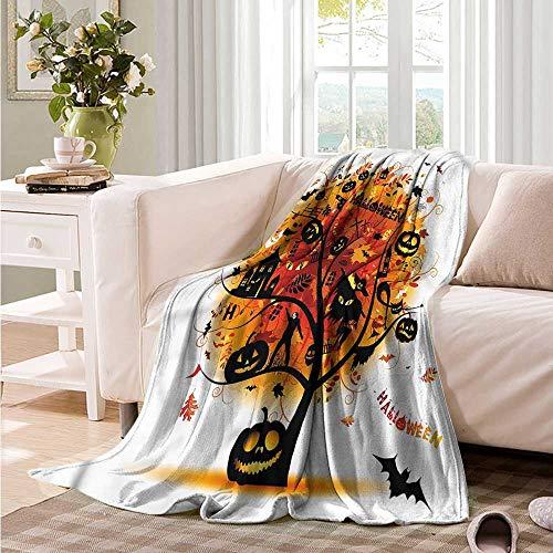 Oncegod Nap Blanket Halloween Mystic Skull Elements Portable Car Travel Cover Blanket 91