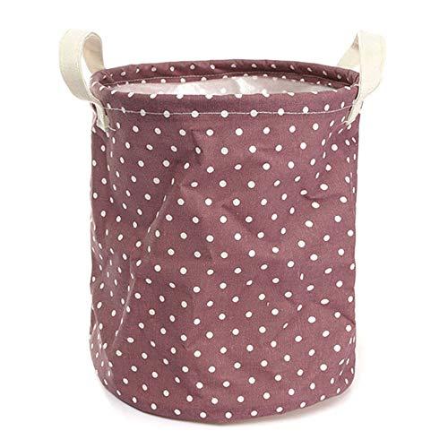 Tuersuer Easy to Assemble 2326cm Cotton Linen Storage Clothes Basket Organization Garment Bag Laundry Hamper Daily Stuff Bag,Purple by Tuersuer