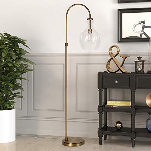 Henn Hart FL0267 Arc Brass Floor Lamp