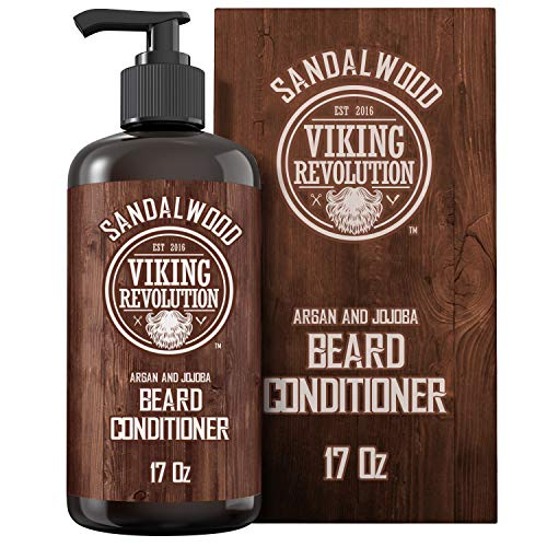 Best Deal Beard Conditioner w/Argan & Jojoba Oils – Softens & Strengthens – Sandalwood Scent – Beard Conditioner w/Beard Oil (17oz Conditioner)