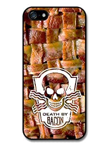 Death By Bacon Delicious Food Weave And Skull Cool Style Design Case For Htc One M9 Cover