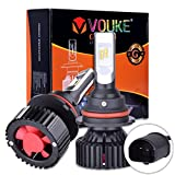 club car head lights - G+ 9007 HB5 High Low beam Dual Beam headlamp 8000 Lumens With Extremely Bright Phi ZES AEC Chips All-in-One LED Headlight Conversion Kit Halogen Head light Replacement 6500K White,1 Yr Warranty