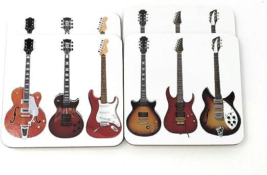 Compra Lesser & Pavey Juego de 4 Posavasos para Guitarra en Amazon.es