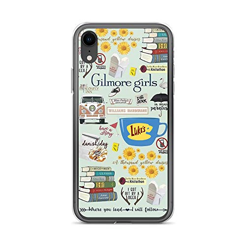 Gilmore Girls Cliparts iPhone XR Case - Inspired by Gilmore Girls TV Series, Stars Hollow, Mother's Day, Father's Day Present, Gift Idea for Die-Hard Fans (Clipart Girls Of)
