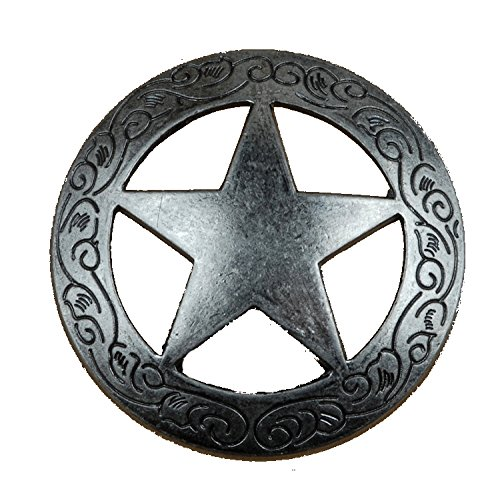 Pull Lone Star (Set of 6 Fancy Garland Lone Star Drawer Pulls Cabinet Knobs Western Southwest Decor Texas (Old Silver))
