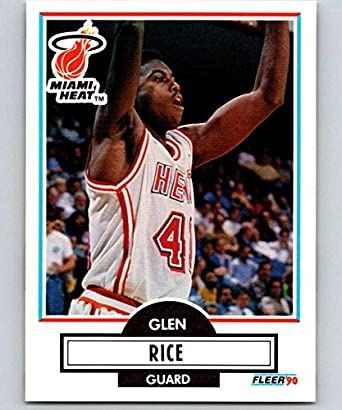 Amazoncom Basketball Nba 1990 91 Fleer 101 Glen Rice 101 Nm Rc