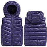 Happy Cherry Baby Boys Puffer Down Vest Hooded