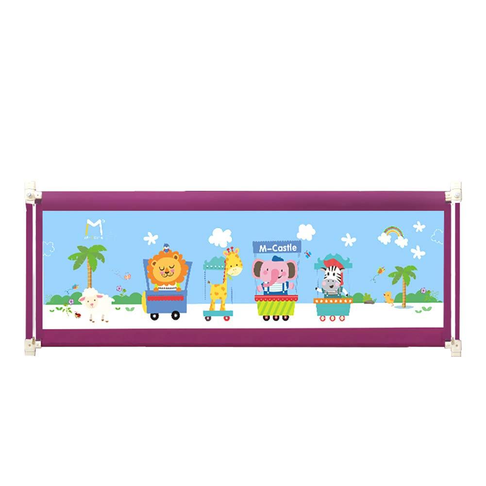 ベッドフェンス 150cmベッドレール幼児ベッドレール、幼児と子供用の軽量折りたたみ調節可能な金属フレーム保護ガード (色 : Purple)  Purple B07JMP1FQX