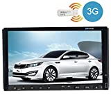 Pupug 3G Internet Dongle+7 Inch Double 2 Din Car DVD Player Two Din Auto Video Radio Car GPS Navigation with Bluetooth Audio Stereo In Dash Head Unit PC