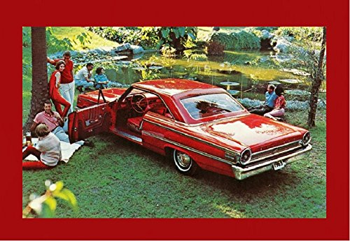 Torque Ford (1963½ COMMAND PERFORMANCE SUPER TORQUE FORD GALAXIE 500 XL SPORTS HARDTOP VINTAGE FACTORY COLOR POSTCARD - USA - GORGEOUS ORIGINAL POST CARD !!IR)