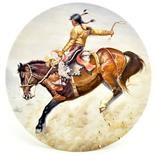 Art Collector Plate Collection - Gregory Perillo Collectors Plate - Masterpieces of Western Art Native American Indian Horse Plate Indian Style c1982 COA Nib