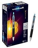 uni-ball 207 Retractable Gel Pens, Medium Point, Blue, Box of 12 - 33951