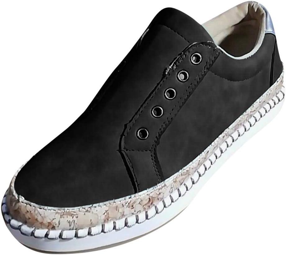 AG&T 2019 Nuevo de Cuero Mujer Pisos Mocasines Casuales Zapatos Deportivos para Caminar Zapatos de Malla cómodos y cómodos de Trabajo: Amazon.es: Deportes y aire libre