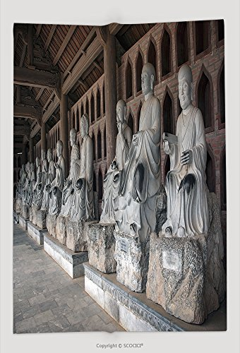 Custom Throw Blanket Ninh Binh Vietnam March Green Stone Buddha Bai Dinh Pagoda Ancient Temple Southeast 438075148 and (Minecraft Halloween Vietnam)