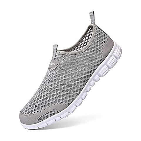 Leaderica Men's Mesh Aqua Water Shoes Slip On Casual Beach Sneakers