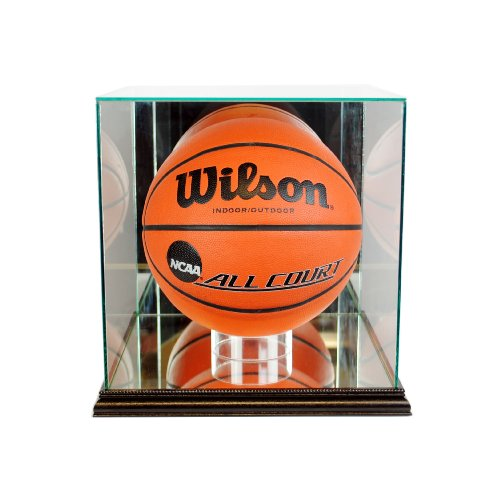 (NBA Rectangle Basketball Glass Display Case, Black)
