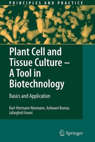 Plant Cell and Tissue Culture - A Tool in Biotechnology: Basics and Application (Principles and Practice) by Karl-Hermann Neumann (2010-11-09)