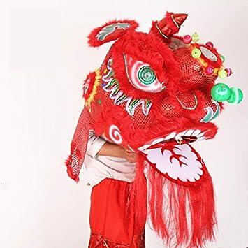 Amazon.com: Niños tamaño León danza equipo Wushu León ...