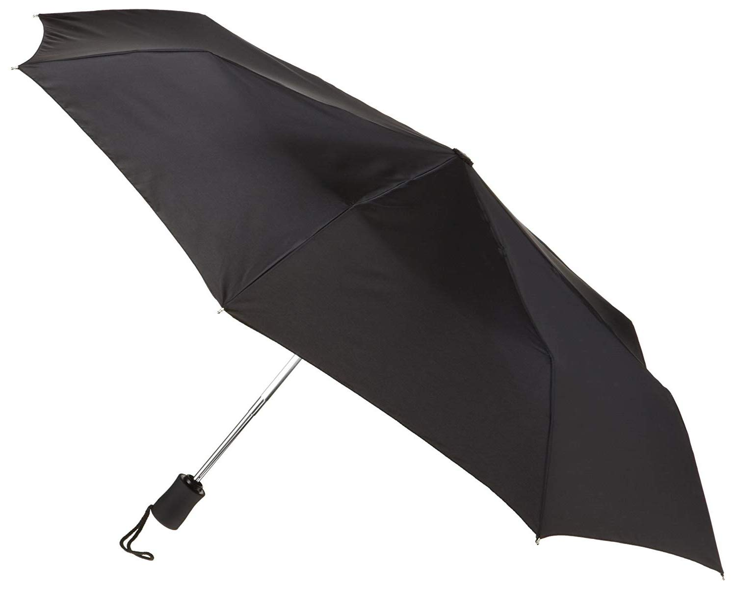 Lewis N. Clark Travel Umbrella: Windproof & Water Repellent with Mildew Resistant Fabric, Automatic Open Close & 1 Year Warranty. - Black by Lewis N. Clark (Image #2)