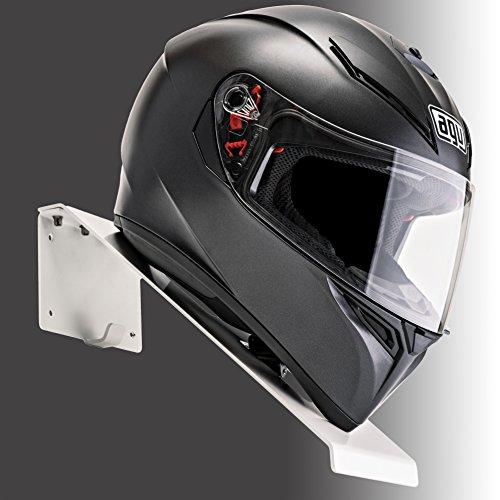 BESTUNT Helmet Hanger | For Motorcycle Holder Shelf Rack Storage Fixation | Mount on Wall | White by BESTUNT