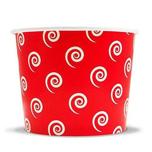 12 oz Paper Ice Cream Cups- 35+ Colors