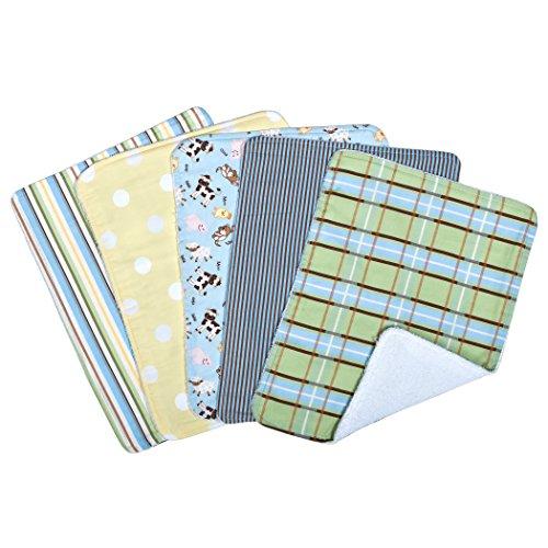 Trend Lab 5 Piece Burp Cloth Bundle Box Set, Baby - Terry Cloth Chocolate