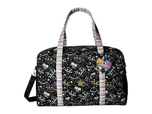 - Luv Betsey Women's Cruzin Cotton Weekender w/A Luggage Pass Through On The Back Black/Multi One Size
