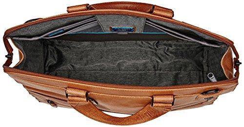 Piquadro Ca4025p15s - Bolso de mano Unisex adulto Marrone (Cuoio Tabacco)