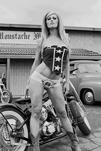 11 x 14 Inch Puzzle 252 Pcs Vintage Motorcycle and Bikini Girl