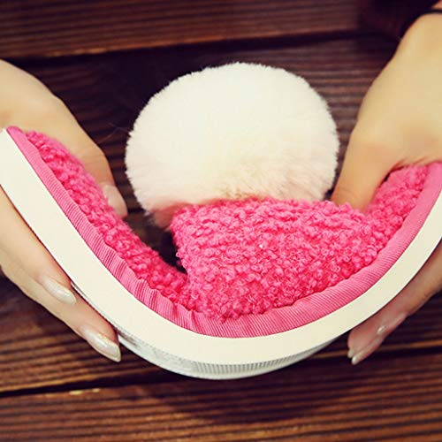 Hausschuhe Unterseite 37EU Paar Warme Startseite Modelle Weibliche Mit Red Nette Farbe 36 Tasche Plüsch Hausschuhe Dicke Rutschfeste Baumwolle größe Red Cartoon AMINSHAP 5pwqf7q