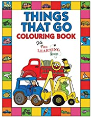 Things That Go Colouring Book with The Learning Bugs: Fun Children's Colouring Book for Toddlers & Kids Ages 3-8 with 50 Pages to Colour & Learn About Cars, Trucks, Tractors, Trains, Planes & More