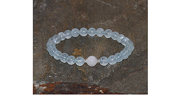 aquamarine bracelet flashy moonstone stretch bracelet moonstone bracelet AAA grade gemstone stretch bracelet