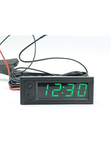verde Caricabatterie USB per auto con misuratore di tensione termometro LED digitale multifunzione 3 in 1