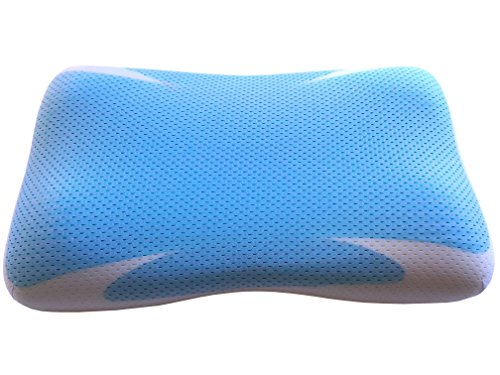KyraHome Cooling Pillow - Cool Gel Memory Foam Pillow for Sleeping, Neck Pain Relief Pillow- Includes Hypoallergenic, Washable Bamboo Pillow Cover w/Contoured Design, CertiPUR-US Certified