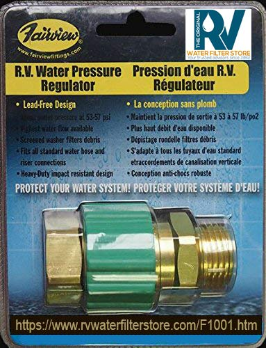 Lead-Free R.V. Water Pressure Regulator WR-RV55 - Protects RV Plumbing and Hoses from High-Pressure City Water, Lead ()