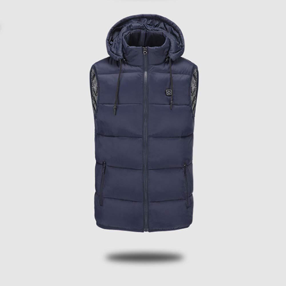DYWOZDP Mit Kapuze elektrisch beheizt Weste, USB-Lade Beheizte Jacke, warme Wärmejacke mit 3 Optional Temperatur, geeignet für den Winter Ski Wandern Campin Angeln Outdoor Sport