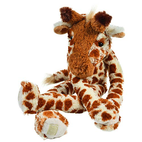 """Giraffe Stuffed Animal - 19"""" Long Arms & Legs Hanging Plush Animal with Bonus Drawstring Backpack for Carrying & Playtime - Safe for Small Children, Large Plushie Toys for Kids"""