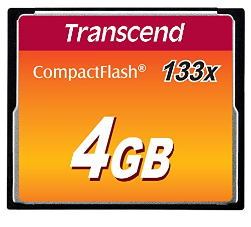 Transcend 4 GB 133x CompactFlash Memory Card TS4GCF133 (Discontinued by Manufacturer)