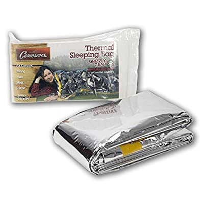 """Emergency Survival Mylar Thermal Sleeping Bag (2 Pack) - Grizzly Gear - 84"""" X 36"""""""