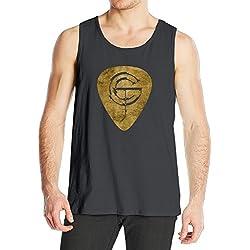 STUAOTO Men's Gary Clark Jr. Gold Pick Tank Top Black